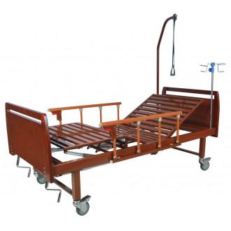 Кровать функциональная механическая Belberg 8-17 темное дерево с туал.устр. бук в Краснодаре