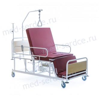 Электрическая медицинская кровать с кардио-креслом Belberg 4-02 с санитарным оснащением в Краснодаре