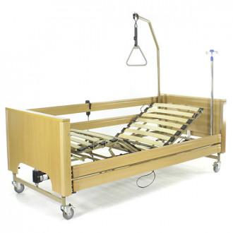 Кровать с электроприводом Belberg 1-194ДЛК, 5 функц. ДЕРЕВО (матрас) в Краснодаре