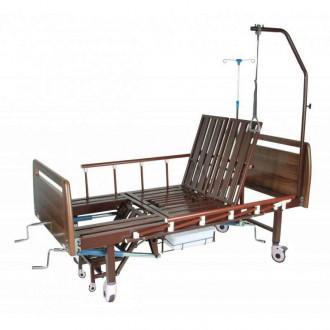 """Механическая медицинская кровать с санитарным оснащением DHC FF-2 с функциями """"кардио-кресло"""" и переворачивания пациента в Краснодаре"""