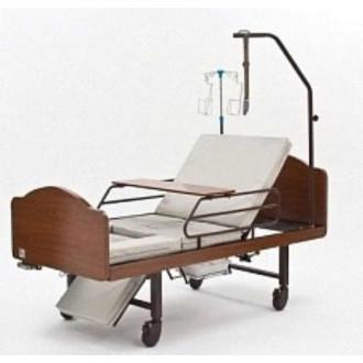 Кровать функциональная медицинская 3-х секционная механическая с санитарным оснащением DHC FF-3 в Краснодаре