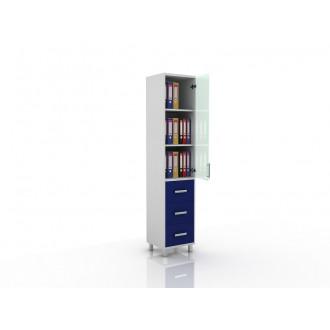 Шкаф для документов (верх стекло, низ ящики выдвижные) 105-001-13 в Краснодаре