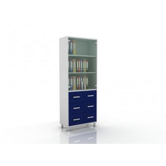 Шкаф для документов (верх стекло, низ ящики) 105-003-11 в Краснодаре