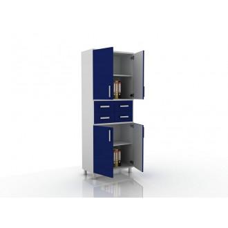 Шкаф для документов (глухие дверцы, 4 ящика в центре) 105-003-18 в Краснодаре
