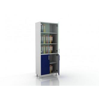 Шкаф для документов (стекло и глухие дверцы) 105-003-2 в Краснодаре