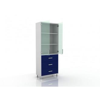 Шкаф для документов (верх стекло, низ ящики) 105-003-20 в Краснодаре