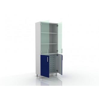 Шкаф для медикаментов (верх стекло, низ- глухие двери) 105-004-16 в Краснодаре