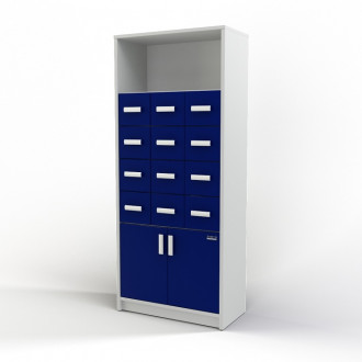 Шкаф картотечный (полки/глухие дверцы) 105-004-3 в Краснодаре