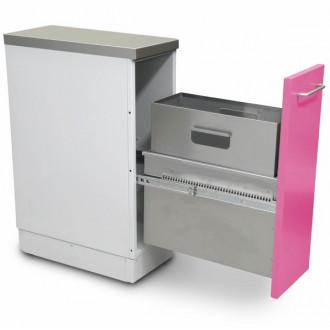 Шкаф медицинский нижний для медицинских отходов ( с выдвижной секцией, узкий) в Краснодаре