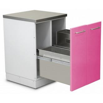 Шкаф медицинский нижний для медицинских отходов (с 2 выдвижными секциями) в Краснодаре