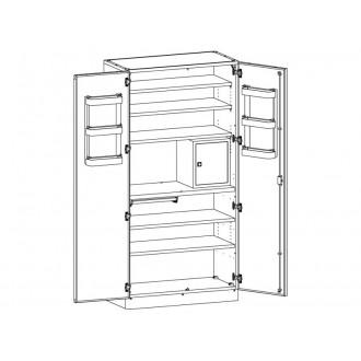 Шкаф медицинский МШ-2-02 для хранения медикаментов (с сейфом) в Краснодаре