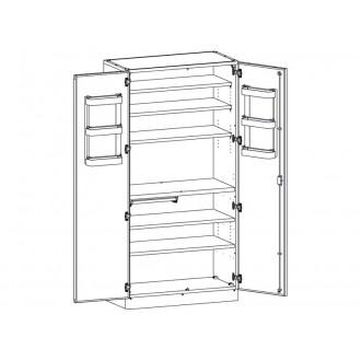 Шкаф медицинский МШ-2-01 для медикаментов (без сейфа) в Краснодаре
