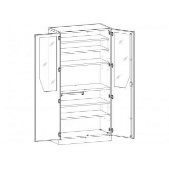Шкаф медицинский МШ-2-05 для инструментария и медикаментов в Краснодаре