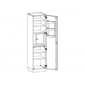 Шкаф медицинский МШ-1-02 с сейфом для медикаментов в Краснодаре