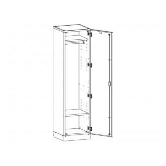 Шкаф медицинский для одежды МШ-1-03 в Краснодаре