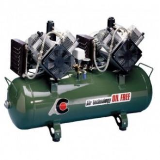 Компрессор стоматологический для 5 установок, без кожуха, с 2-мя 2-х цилиндрованными двигателями в Краснодаре