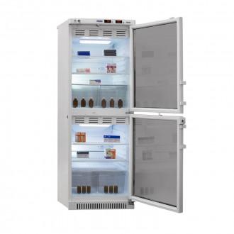 Холодильник фармацевтический двухкамерный ХФД-280(ТС) (140/140 л) с тонированными стеклянными дверями в Краснодаре