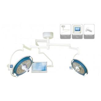 Светодиодный хирургический светильник двух купольный YDZ700/500 plus со встроенной камерой и монитором в Краснодаре